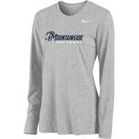 Mountainside Youth Football 06: Nike Women's Legend Long-Sleeve Training Top - Gray