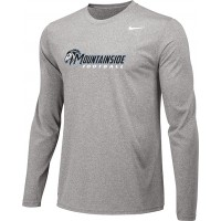 Mountainside Youth Football 04: Adult-Size - Nike Team Legend Long-Sleeve Crew T-Shirt - Gray